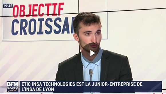 Erwan Cavelier (ETIC INSA): ETIC INSA Technologies est la Junior-Entreprise de l'INSA de Lyon - 28/07/2020